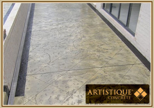 Acid Stained Concrete Pathway - Image 12