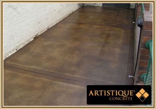 Acid Stained Concrete Pathway - Image 15