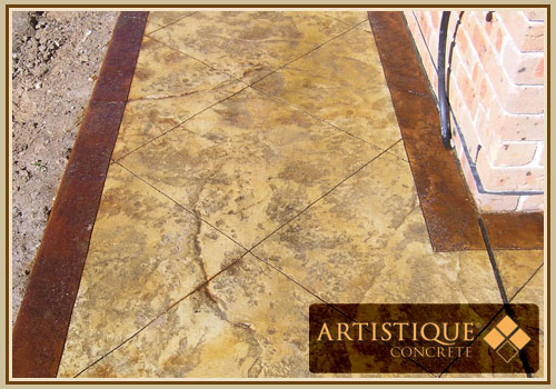 Acid Stained Concrete Pathway - Image 18