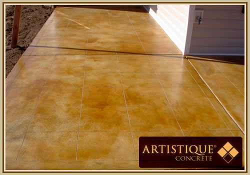Acid Stained Concrete Patio - Image 19