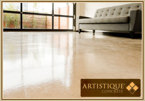 Internal Stained Polished Concrete Floor - Image 2