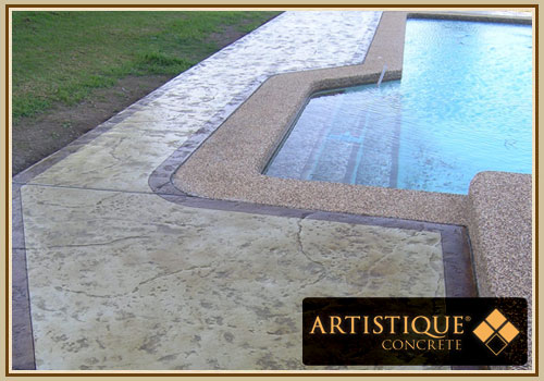 Acid Stained Pool Surround - Image 21