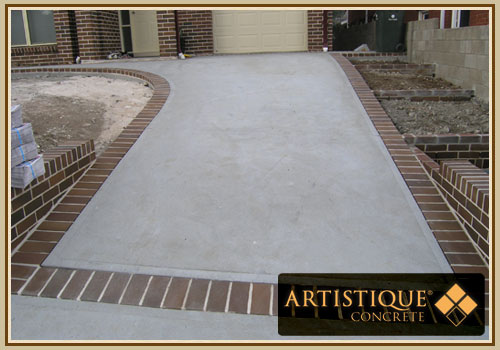 Concrete Driveway with Brick Header - Image 32