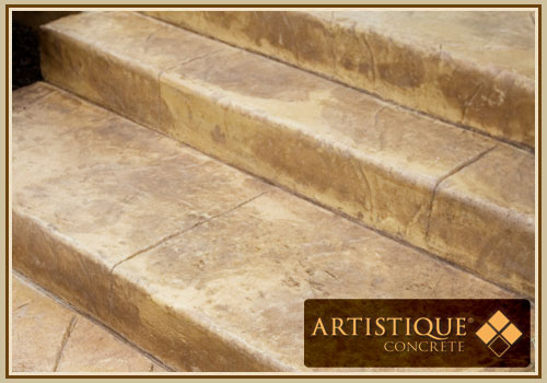 Acid Stained Concrete Stairway - Image 6