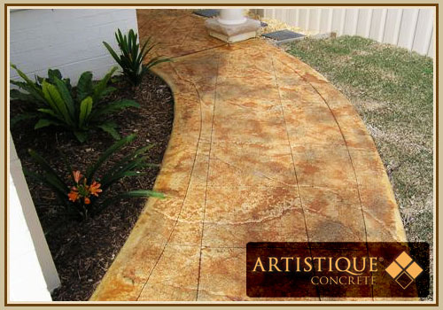 Acid Stained Concrete Pathway - Image 7
